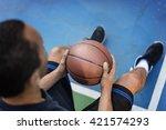 basketball player athlete... | Shutterstock . vector #421574293