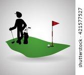 golf design. sport icon.... | Shutterstock .eps vector #421577527