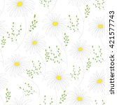 floral seamless pattern with... | Shutterstock . vector #421577743