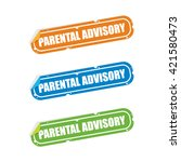 parental advisory sticker labels | Shutterstock .eps vector #421580473