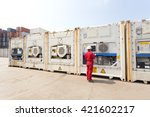 engineer checking equipment in...   Shutterstock . vector #421602217