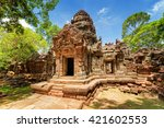 gopura of ancient ta som temple ... | Shutterstock . vector #421602553