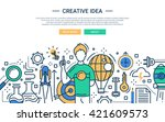 illustration of vector modern... | Shutterstock .eps vector #421609573