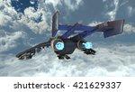 3d cg rendering of a fighter | Shutterstock . vector #421629337