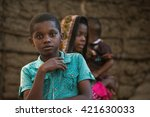 editorial use. people in africa ... | Shutterstock . vector #421630033