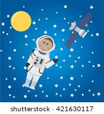 astronaut and universe | Shutterstock .eps vector #421630117