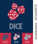 dice with text  dice  in retro... | Shutterstock .eps vector #421634473