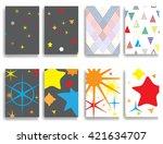 vintage art poster. old card...   Shutterstock .eps vector #421634707