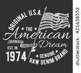 t shirt typography design  usa... | Shutterstock .eps vector #421638553
