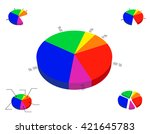 3d pie chart template. isolated