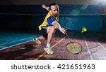Bearded  Badminton Player In...