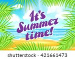 it s summer time. design.... | Shutterstock .eps vector #421661473