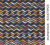 fashion zigzag pattern in... | Shutterstock .eps vector #421673923