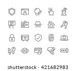 simple set of security related... | Shutterstock .eps vector #421682983