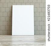 mock up poster frame in hipster ... | Shutterstock . vector #421683703