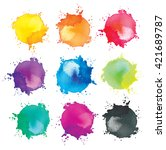 watercolor splash background.... | Shutterstock . vector #421689787