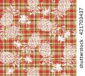 pattern of pineapple | Shutterstock .eps vector #421703437