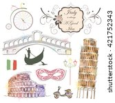landmarks of italy  the pattern ...   Shutterstock .eps vector #421752343