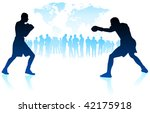 boxing world championship... | Shutterstock .eps vector #42175918