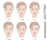 Set Of Vector Face Shapes....