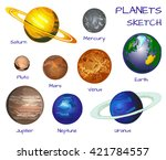planets of the solar system.... | Shutterstock .eps vector #421784557