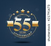happy anniversary celebration... | Shutterstock . vector #421791673