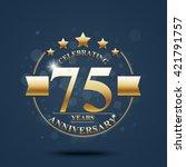 happy anniversary celebration... | Shutterstock . vector #421791757