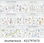 hand drawn business ideas... | Shutterstock .eps vector #421797673