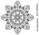 vector henna tatoo mandala.... | Shutterstock .eps vector #421799563
