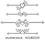decorative rule lines | Shutterstock . vector #42180235