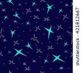 vector seamless illustration of ... | Shutterstock .eps vector #421812667