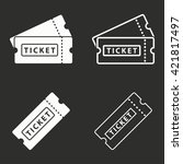 ticket   vector icon. white... | Shutterstock .eps vector #421817497
