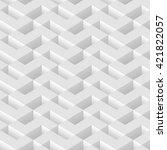 white seamless geometric... | Shutterstock .eps vector #421822057