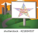 movies online showing world... | Shutterstock . vector #421834537