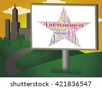 entertainment star meaning... | Shutterstock . vector #421836547