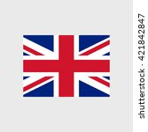 united kingdom national flag | Shutterstock .eps vector #421842847