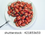 plate of tomatoes | Shutterstock . vector #421853653