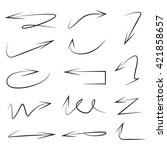 vector set arrows  hand drawn... | Shutterstock .eps vector #421858657