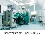 surgeons are operating in a... | Shutterstock . vector #421860127