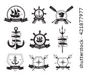 nautical logotypes or insignias ... | Shutterstock .eps vector #421877977
