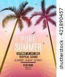 pure summer beach party. tropic ...   Shutterstock .eps vector #421890457