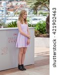 Small photo of Cannes, France - 15 MAY 2016 - Actress Angourie Rice attends 'The Nice Guys' photocall during the 69th annual Cannes Film Festival
