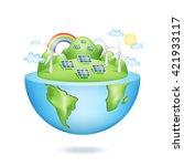 creative eco concept. green... | Shutterstock .eps vector #421933117