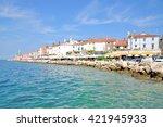 promenade of piran at adriatic... | Shutterstock . vector #421945933
