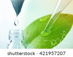 water drop from leaf and... | Shutterstock . vector #421957207