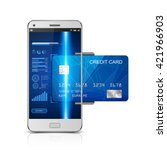mobile payment concept ... | Shutterstock .eps vector #421966903