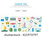 summer   banners set for summer ... | Shutterstock .eps vector #421973797