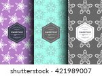 vector set of design patterns... | Shutterstock .eps vector #421989007