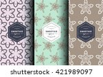 vector set of design patterns... | Shutterstock .eps vector #421989097