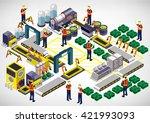illustration of info graphic...   Shutterstock .eps vector #421993093